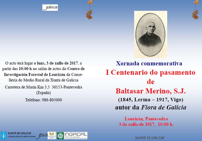 Centenario del fallecimiento del «Padre Merino», Científico Gallego 2017