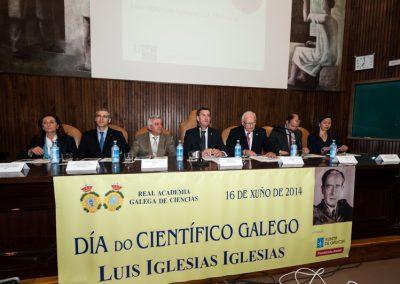 Celebración do día do Científico Galego 2014. Luis Iglesias Iglesias