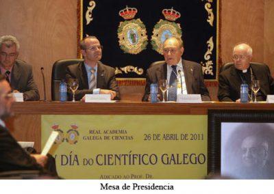 Celebración do Día do Científico Galego 2011. Prof. Dr. D. Ramón María Aller Ulloa