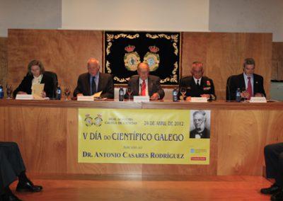 Celebración do Día do Científico Galego 2012. Dr. Antonio Casares Rodríguez