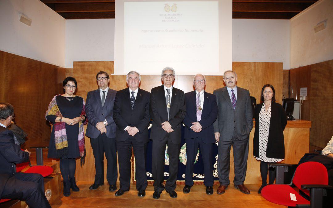 El Prof. Dr. D. Arturo López Quintela ya es Académico Numerario de la RAGC