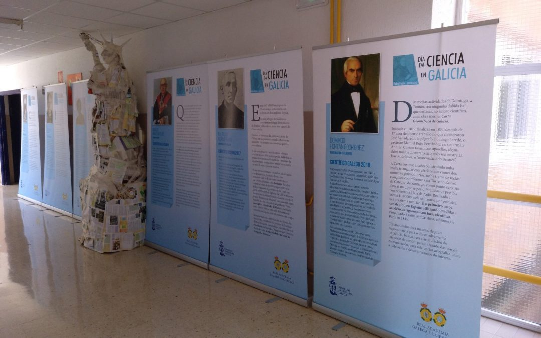 Nuestra exposición «Científicos Galegos 2008-2018» en los IES de Galicia