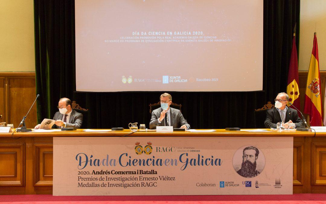 O presidente da RAGC ofrece a súa colaboración para elaborar o Pacto pola Ciencia en Galicia e recomenda programas fortes de atracción e retención de talento