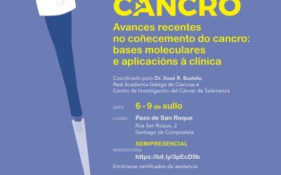 A Real Academia Galega de Ciencias e a Deputación da Coruña organizan do 6 ao 9 de xullo un ciclo de conferencias dos avances recentes sobre o cancro