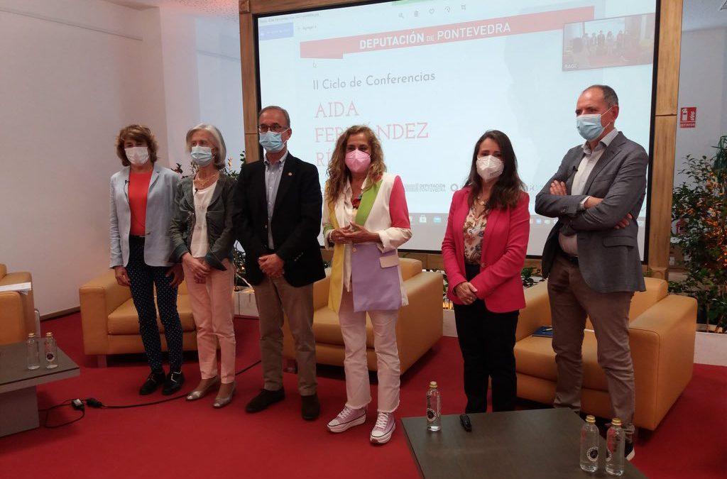 A sede da Deputación de Pontevedra en Vigo acolleu o 27 de maio unha charla sobre o impacto do cambio climático e da saúde na economía dentro do ciclo Aida Fernández Ríos