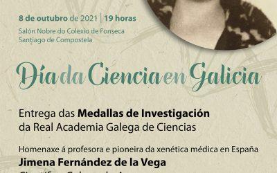 O Día da Ciencia en Galicia celébrase mañá venres, 8 de outubro, cun acto central no Salón Nobre de Fonseca de Santiago dedicado á figura de Jimena Fernández de la Vega